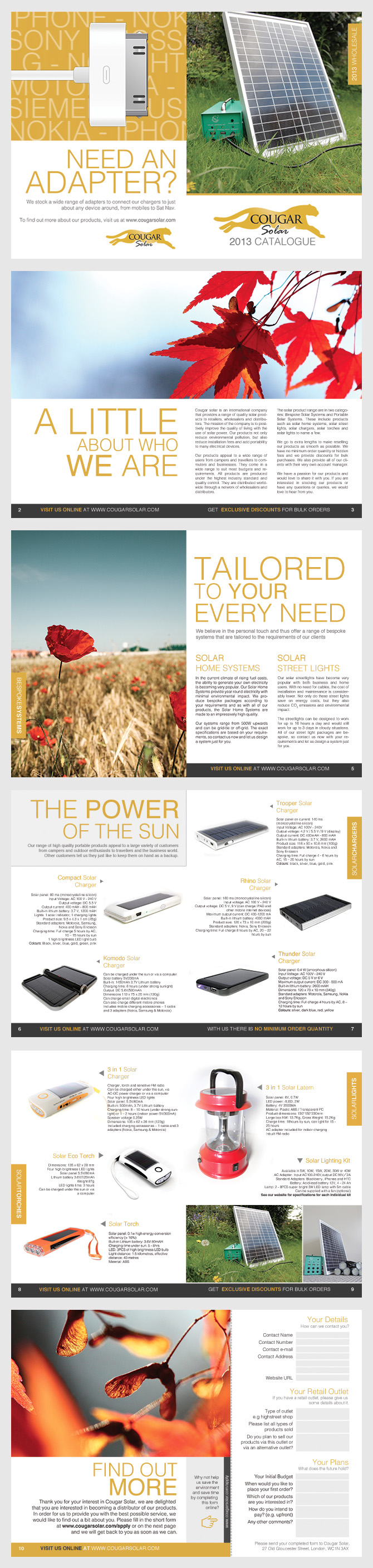 Cougar Solar Brochure Design