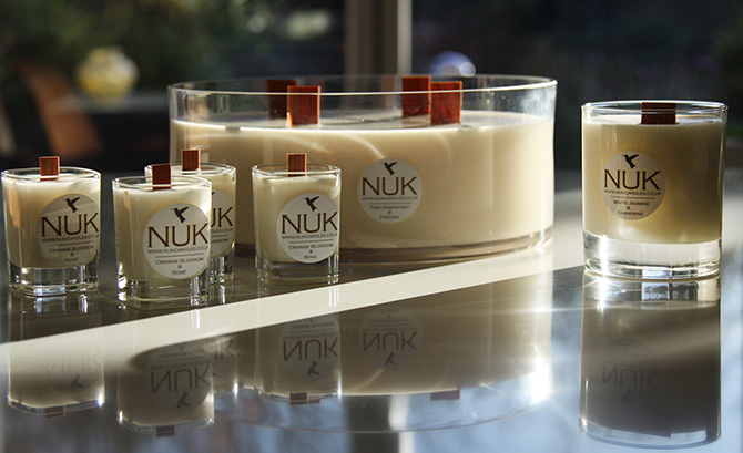 NUK Candles Logo Design