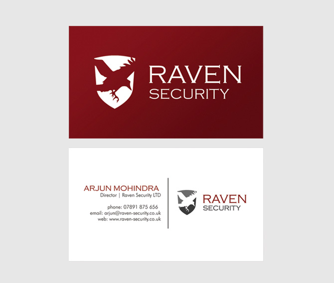 Raven Security Business Card Design