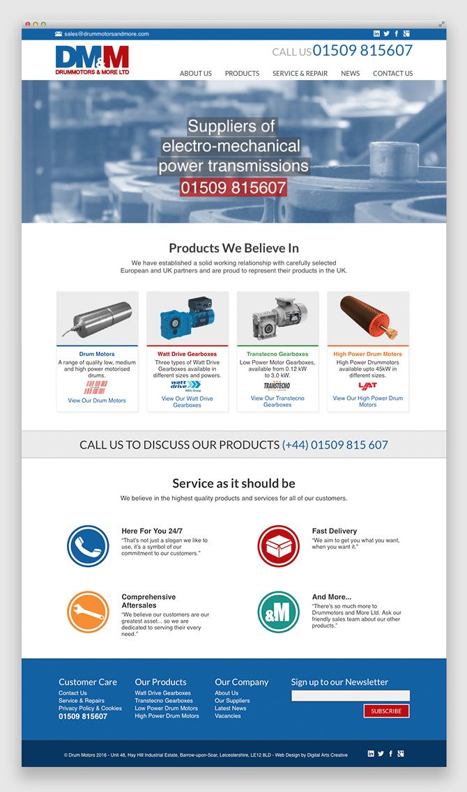 Web Design for DMM Loughborough