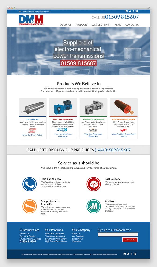 Web Design for DMM Loughborough