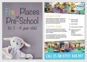 Flyer Design for Buttercups Nursery in Stafford